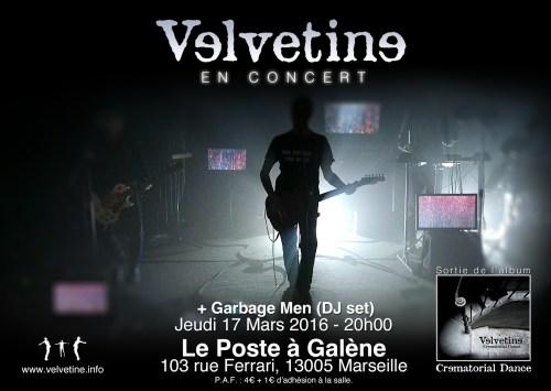 Velvetine au Poste à galène le 17 Mars 2016.