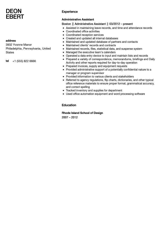 Administrative Assistant Resume Sample Velvet Jobs