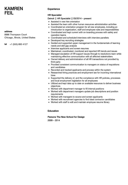 sample resume job descriptions