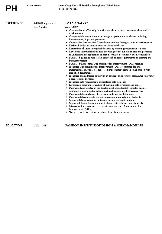 Sas Resume Sample Resume Format Download Pdf Data Analyst Resume Data Analyst  Resume Sample Data Analyst