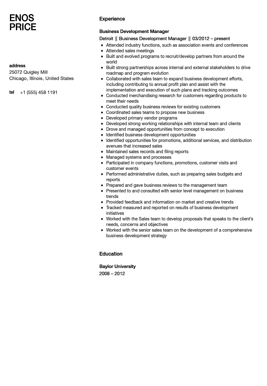 Resume Headline For Business Development Executive - Resume