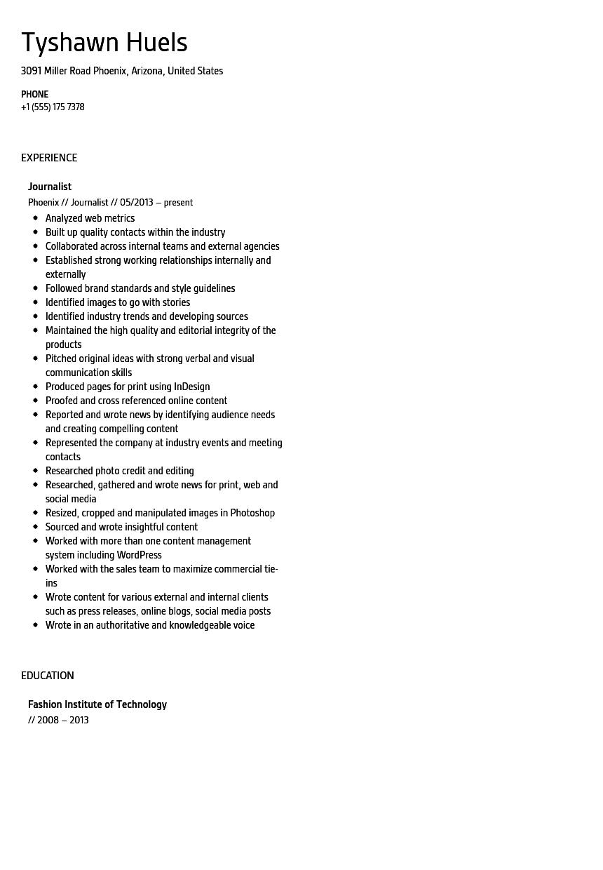 content strategist resume samples