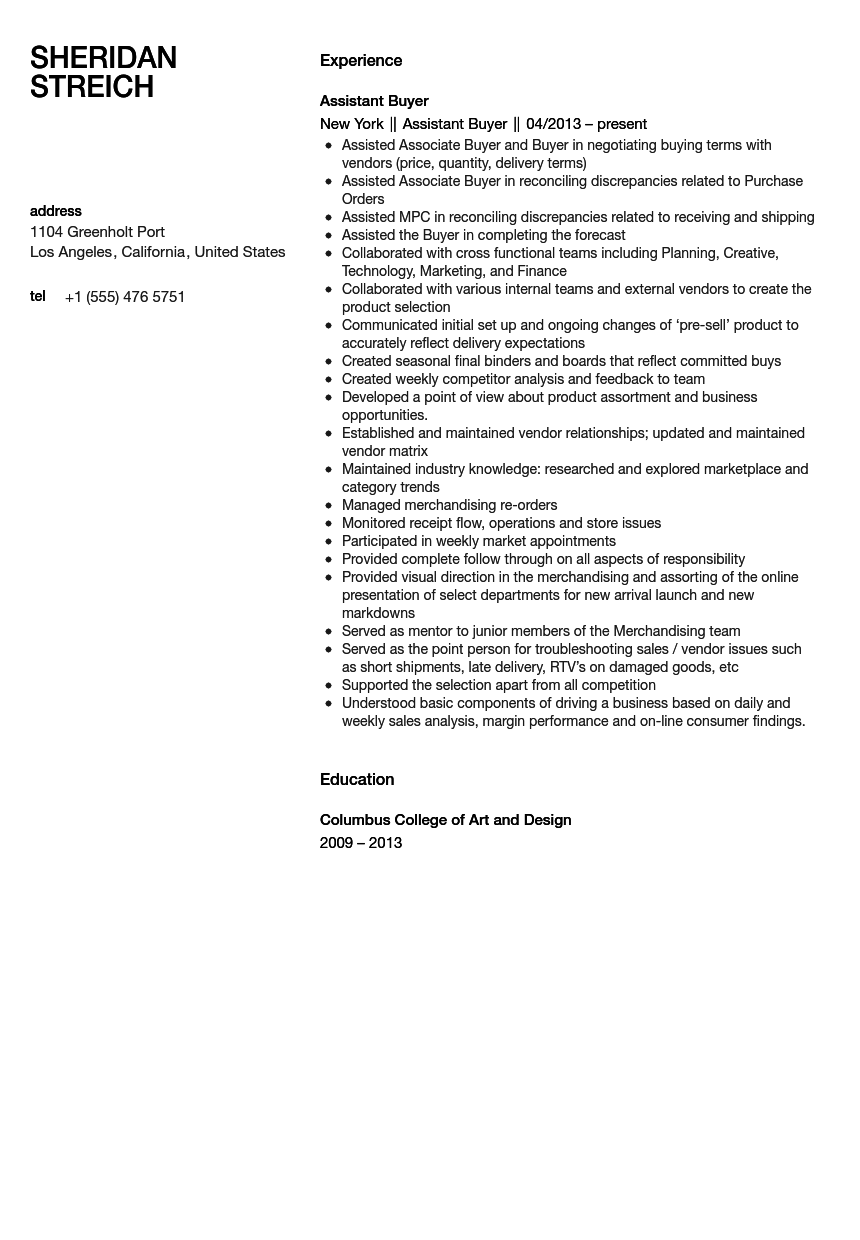example associate of isc resume