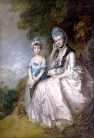 'Hester, Countess of Sussex, and Her Daughter' by Thomas Gainsborough