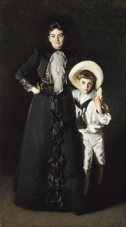 'Mrs Edward L. Davis and Her Son, Livingston Davis' by John Singer Sargent