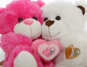 pink-and-white-cute-teddy- bear-pair