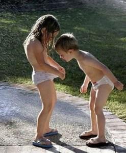kids looking down panties