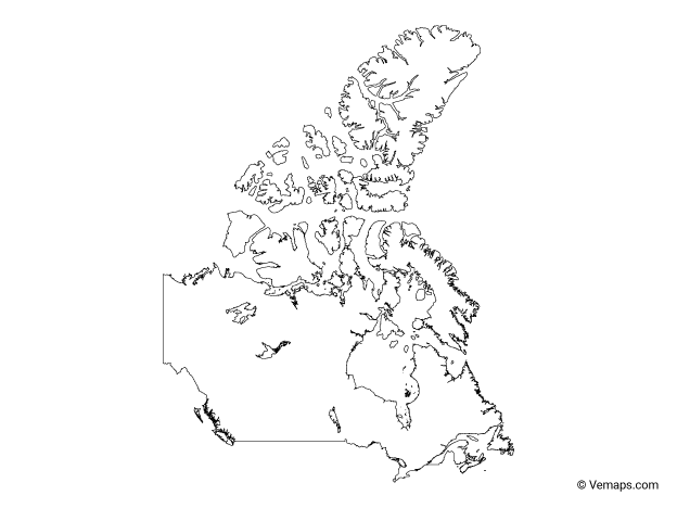 Vector Maps Of Canada Free Vector Maps
