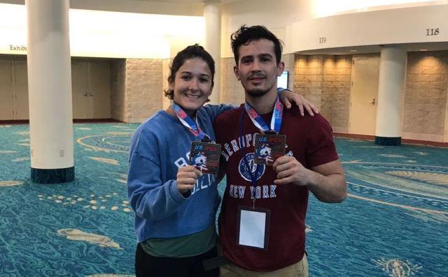 JUDÔ - Rafael Barbosa e Rafaela Barbosa no pódio no US Open - divulgação 1