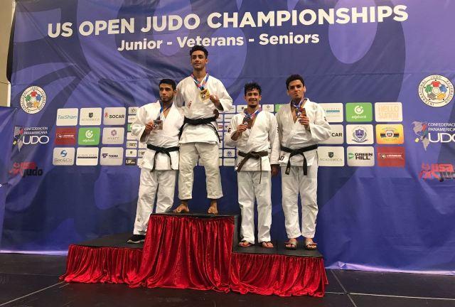 JUDÔ - Rafael Barbosa no pódio no US Open - divulgação 1