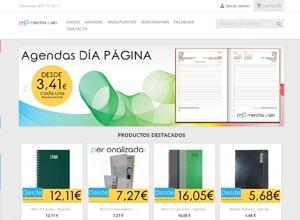 Diseño Web Tienda de agendas Merchaspain
