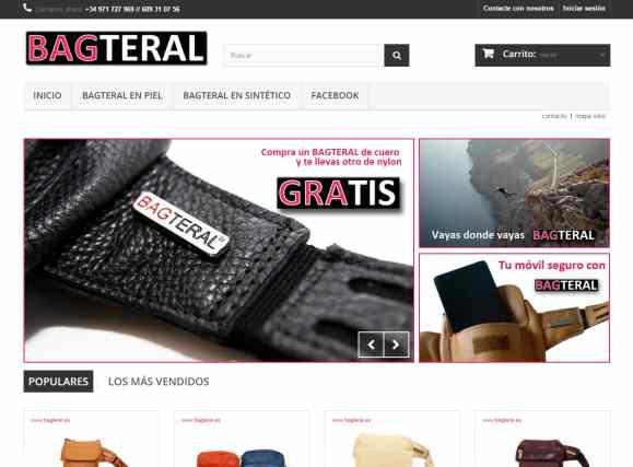 Diseño Web Tienda Bagteral