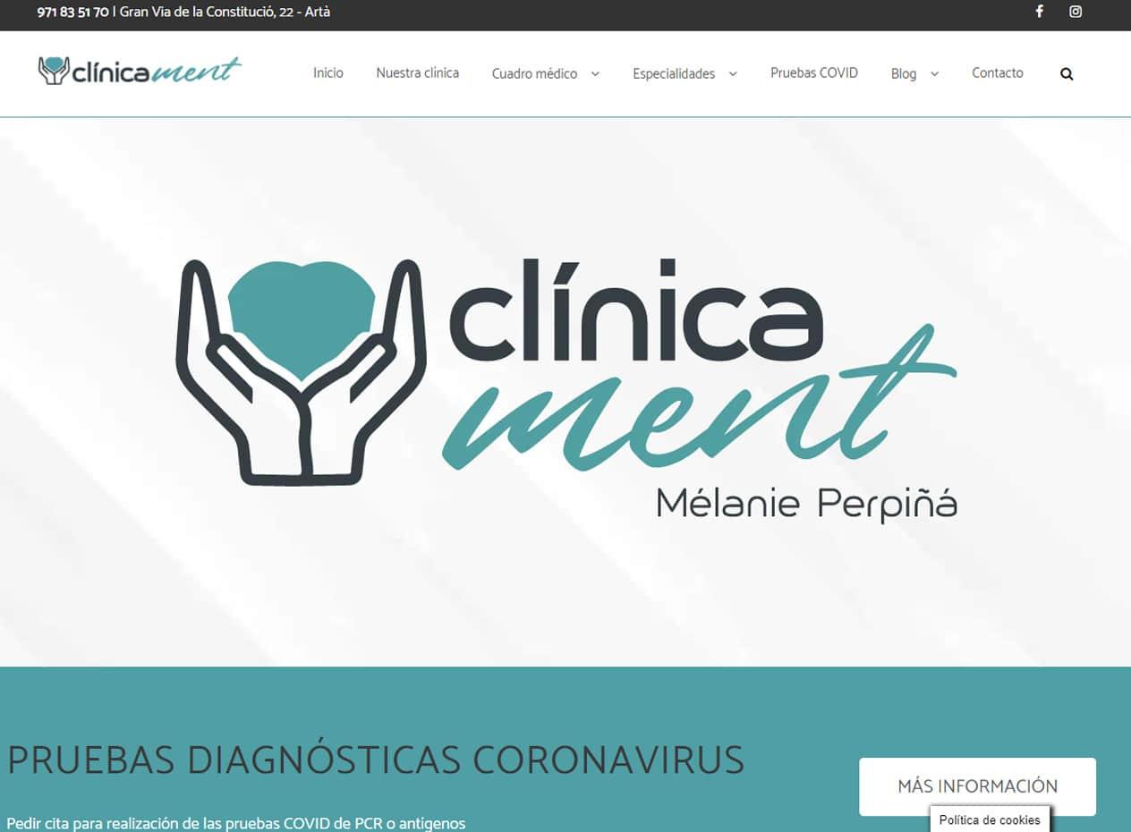 Diseño web para clínicas médicas en Mallorca - Clínica Ment