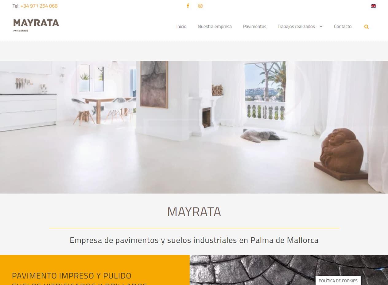 Posicionamiento web para empresas de construcción - MAYRATA