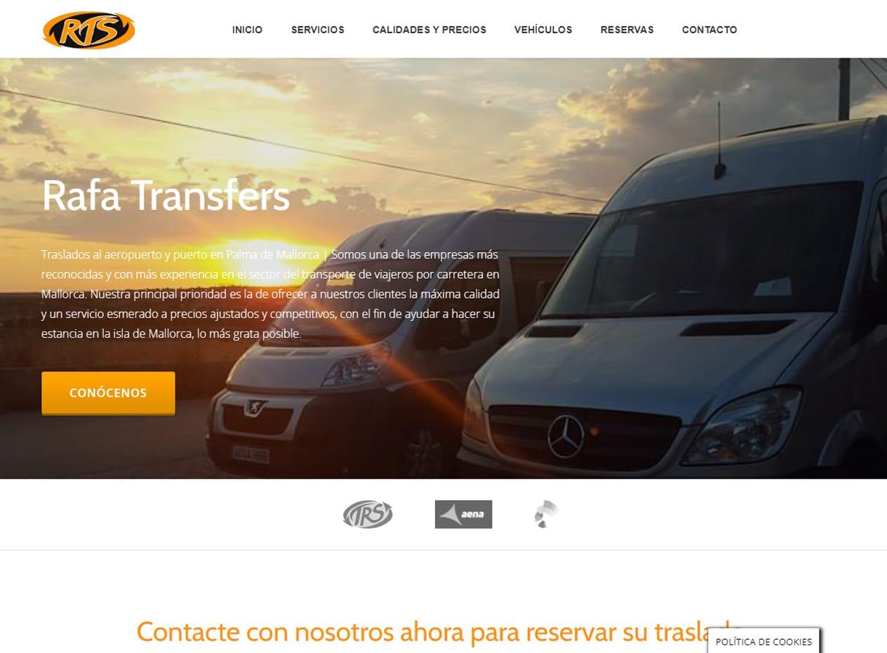 Diseño web para empresas de traslados en Mallorca - Rafatransfers