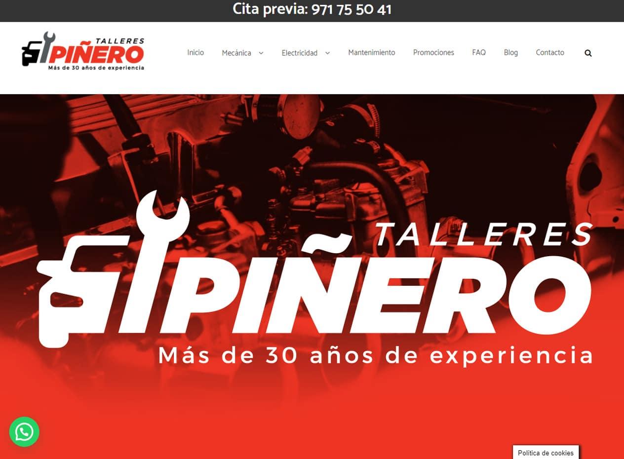 Diseño web para talleres mecánicos en Mallorca - Talleres Piñero