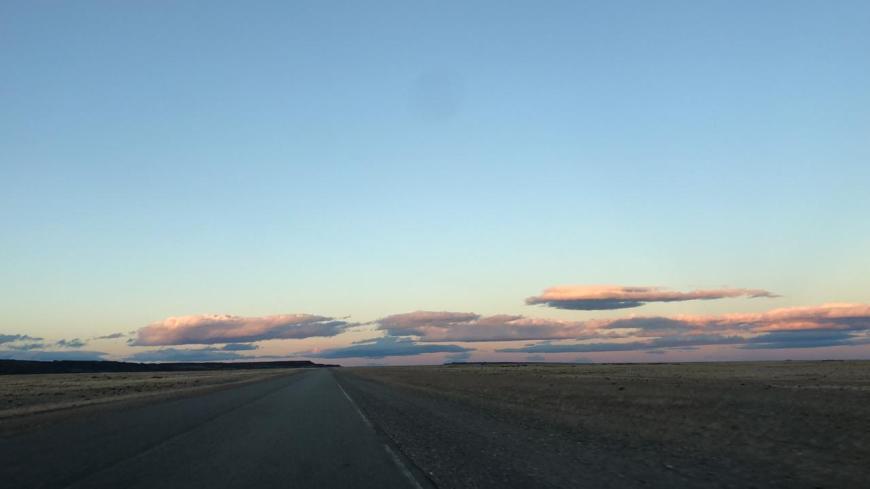 Formação de nuvens na Patagônia