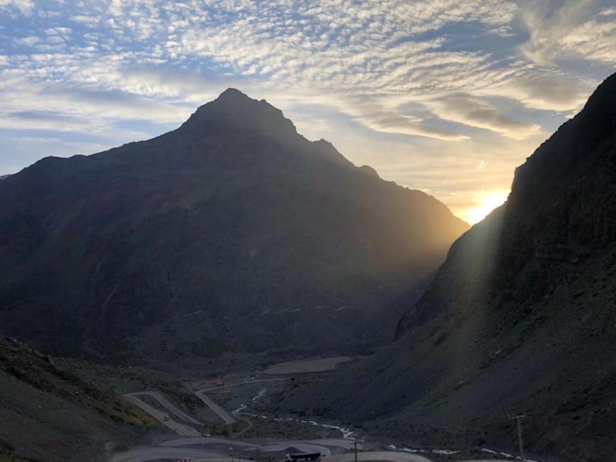 Pôr do sol na Estrada Caracóles