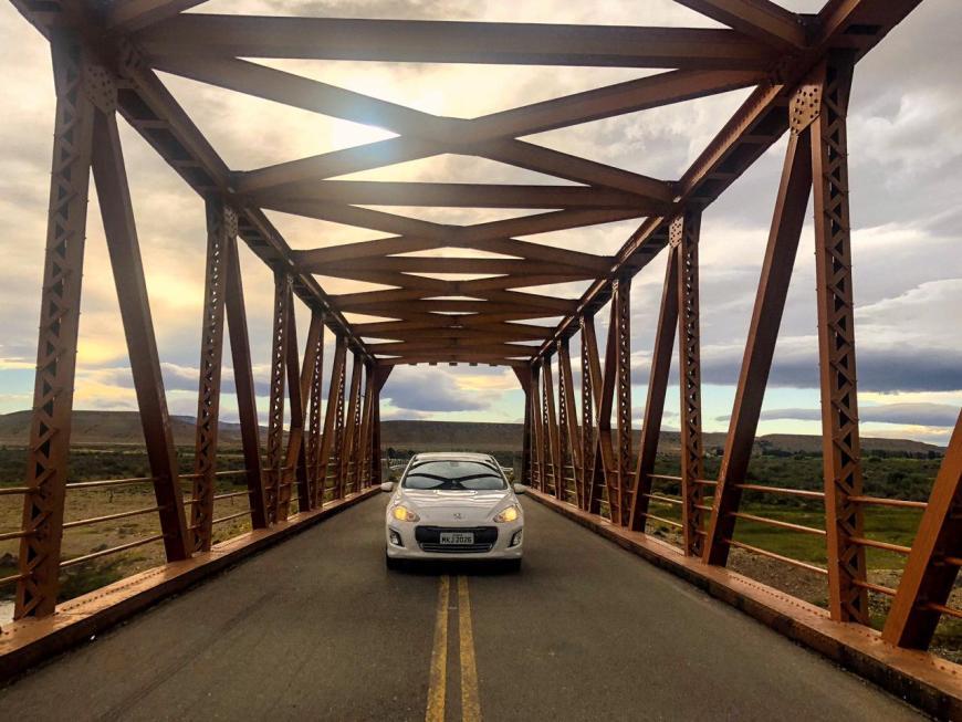 Ponte de ferro na Patagônia