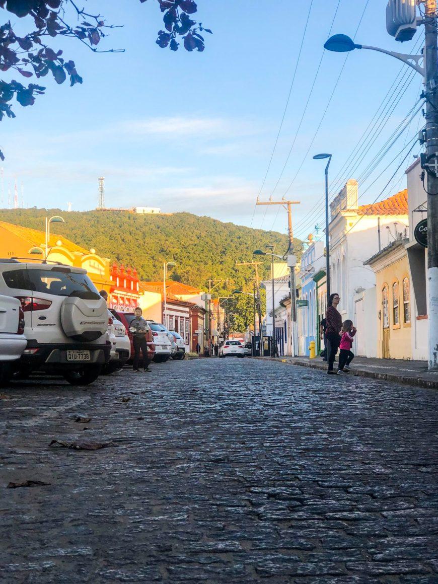 ruas do centro histórico de Laguna