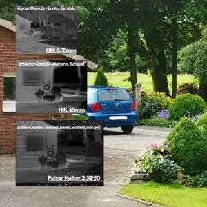 Blickwinkel im Vergleich - Wärmebildgeräte Test
