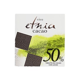 Tableta de chocolate ETNIA CACAO 50% con leche