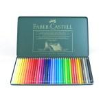 Estuche de metal con 36 lápices de colores Faber-Castell
