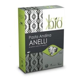 Anelli BIO XXI, Pasta Andina de arroz, quinua y vegetales sin gluten