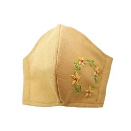 Barbijo fashion bordado a mano con diseño Corona de Flores