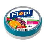 Caramelos duros sin azúcar Flopi, sabor mix de frutas