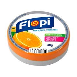 Caramelos duros sin azúcar Flopi, sabor naranja
