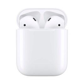 Apple AirPods con funda de carga, color blanco