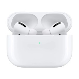 Apple AirPods Pro con estuche de carga inalámbrica, color blanco