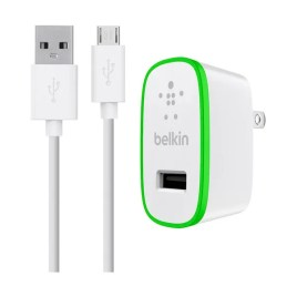 Cargador universal de pared Belkin 10Watts + Cable micro USB, color blanco