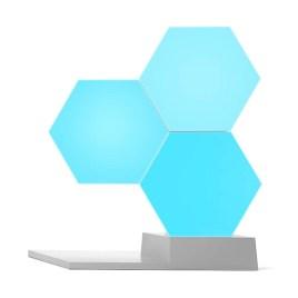 Lámpara modular Cololight de 3 piezas, distintas formas de armado y compatible con asistentes de voz