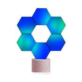 Lámpara modular Cololight PRO de 6 piezas, distintas formas de armado y compatible con asistentes de voz