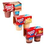 Combo de copas de pudín Snack Pack, 12 unidades