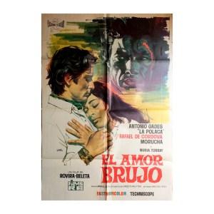 Afiche histórico original EL AMOR BRUJO