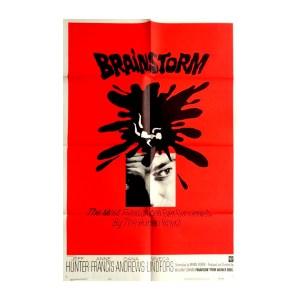 Afiche histórico original BRAINSTORM