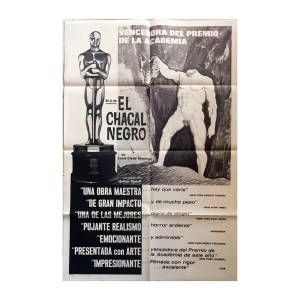 Afiche histórico original EL CHACAL NEGRO
