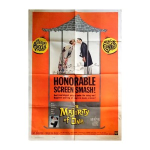 Afiche histórico original A MAJORITY OF ONE