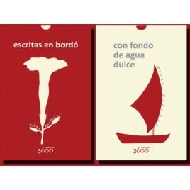 Escritas en bordó / Con fondo de agua dulce, Sulma Montero