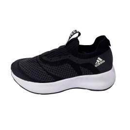 Zapatilla deportiva de mujer, color gris oscuro con planta gruesa blanca