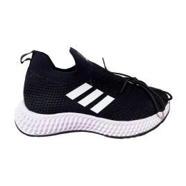 Zapatilla deportiva de mujer, color negro con planta blanca