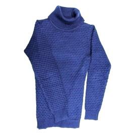 Chompa de cuello alto para niñas, color azul (9-16 años)