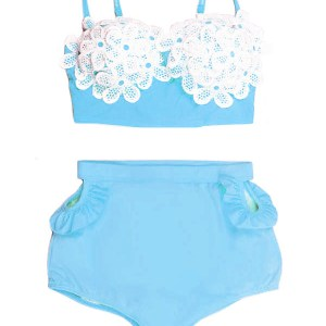 Peplum Tankini Swimsuit Bikini Two Piece Bathing Suit