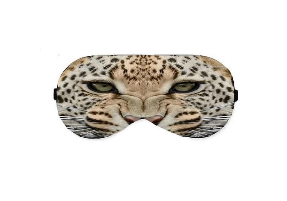 Leopard tiger face eye sleep sleeping mask masks pillow shade wear light  block eyemask sleepmask blindfold slumber eyeshade travel kit eyes cover