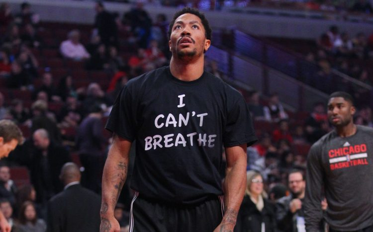 Dec 6, 2014; Chicago, IL, USA; Chicago Bulls guard Derrick Rose (1) prior to a game against the Golden State Warriors at the United Center. Mandatory Credit: Dennis Wierzbicki-USA TODAY Sports