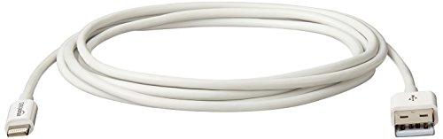 AmazonBasics Cable de conexión Lightning a USB con certificación Apple, 1.8 m, color blanco - VendeTodito