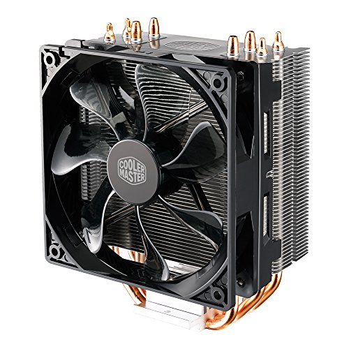 Cooler Master RR-212L-16PR-R1 Disipador de CPU, color Negro/Rojo Metálico - VendeTodito